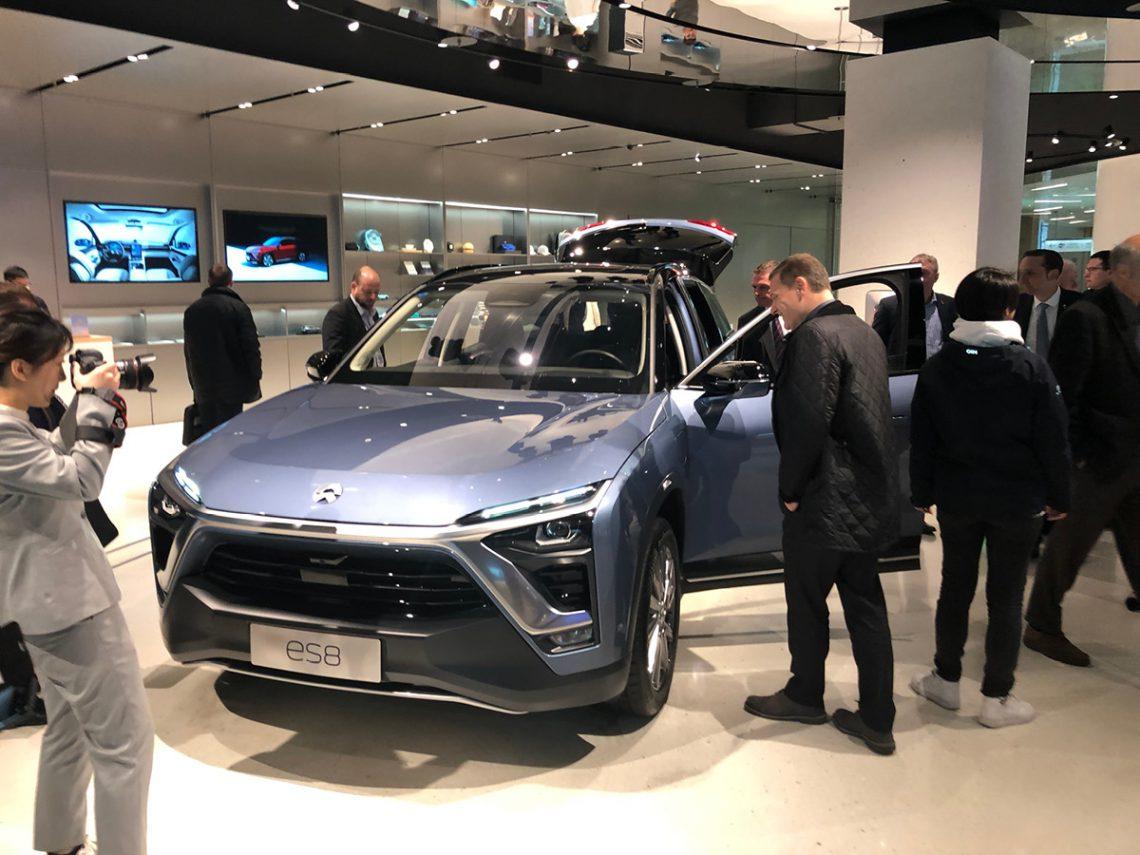 … und natürlich gibt es hier auch SUVs: Der ES8 ist eines der Modell der chinesischen Lifestyle-Marke NIO