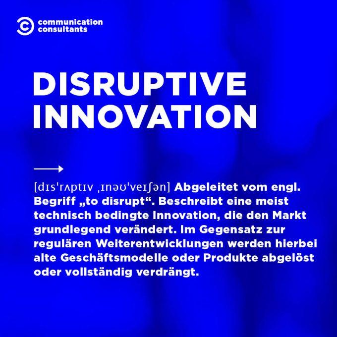 Buzzword Disruptive Innovation