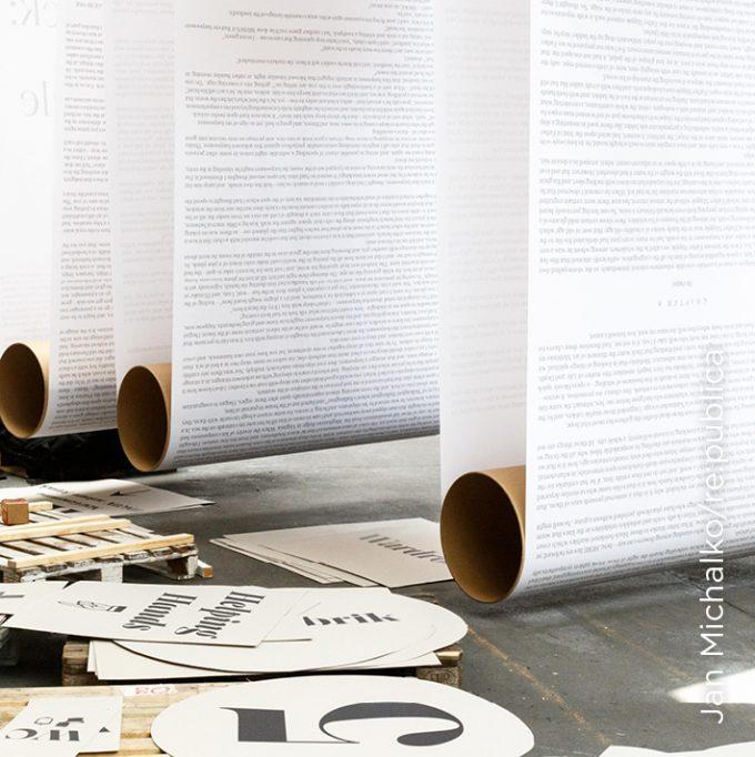 Der Moby-Dick-Text lief quer durch das Veranstaltungsgelände Station in Berlin, auf dem die re:publica statt, Europas größte Konferenz für die digitale Gesellschaft und rund um das Internet.