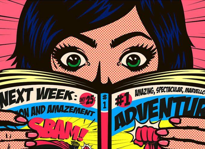 Mensch liest Comic