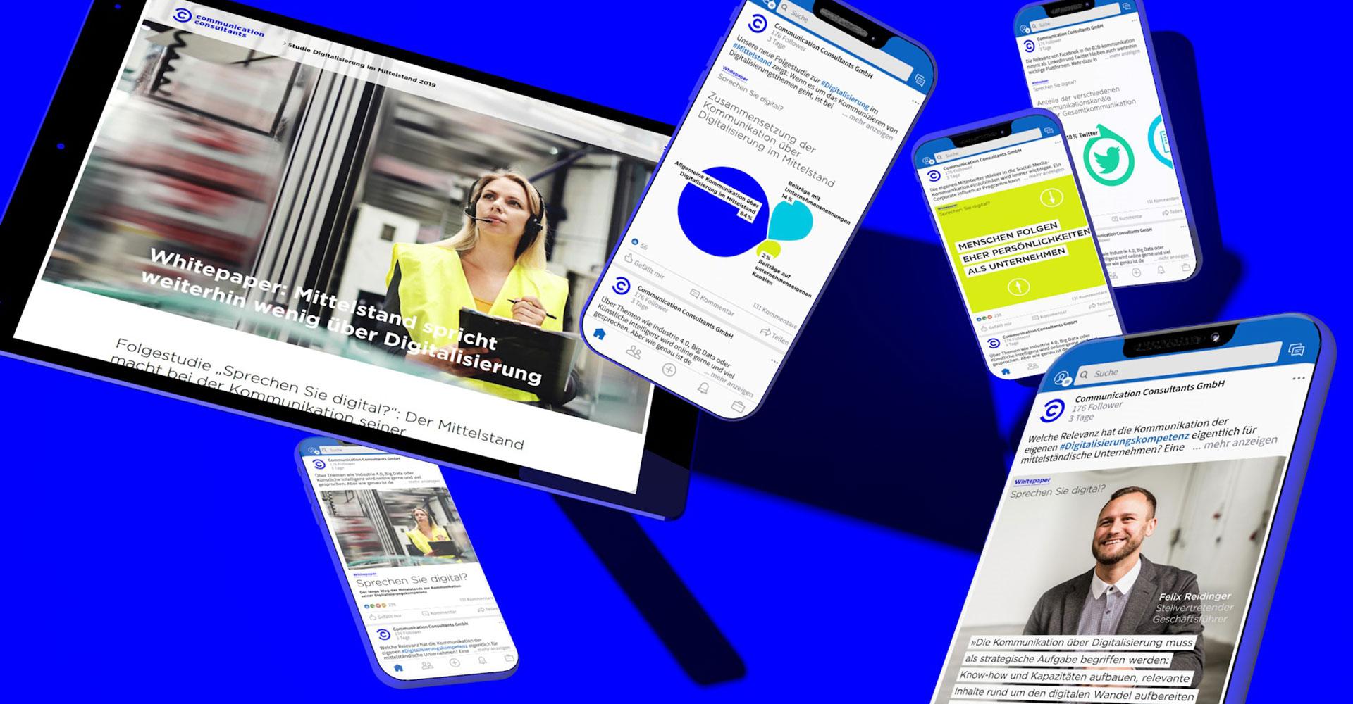 Social Media Agentur: Social Media Kampagne zur Digitalisierungsstudie