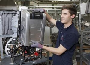 Neuartige Gerätegeneration bei Bosch Thermotechnik Mit einer völlig neuartigen Gerätegeneration ist Bosch Thermotechnik auf Wachstumskurs.  Quelle: Bosch Thermotechnik  Abdruck honorarfrei bei redaktioneller Verwendung mit Quellenangabe.