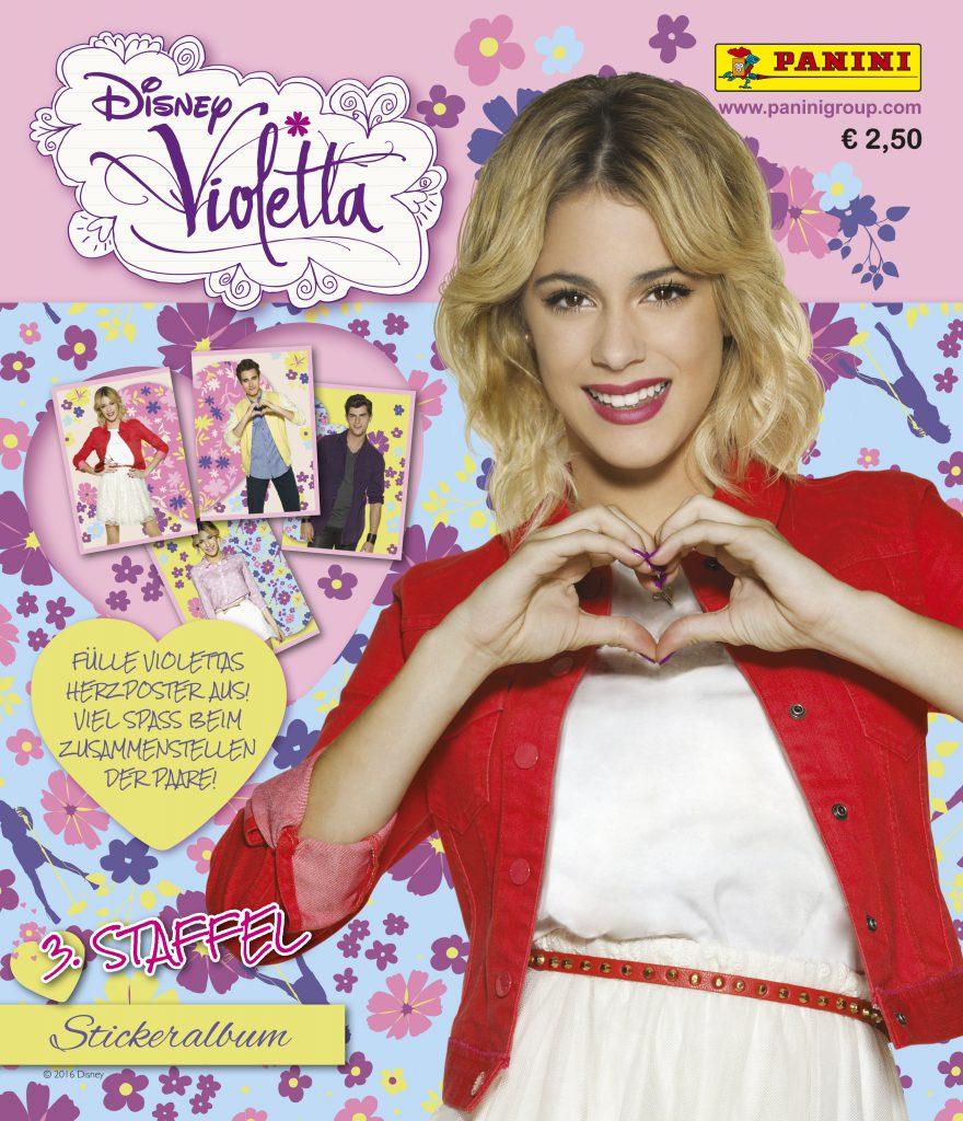 """""""Disney Violetta"""" - Stickeralbum """"Disney Violetta"""" ist bereits die dritte Stickersammlung begleitend zur beliebten Telenovela. Der Verkauf startet am 16. März in Deutschland und Österreich. Bildquelle: Panini"""