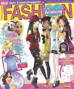"""""""Fashion Academy - Dein Kreativmagazin"""" - Cover """"Fashion Academy - Dein Kreativmagazin"""" richtet sich an kreative und  modebegeisterte junge Mädchen und ist vom 7. Juli an erhältlich. Bildquelle: Panini"""