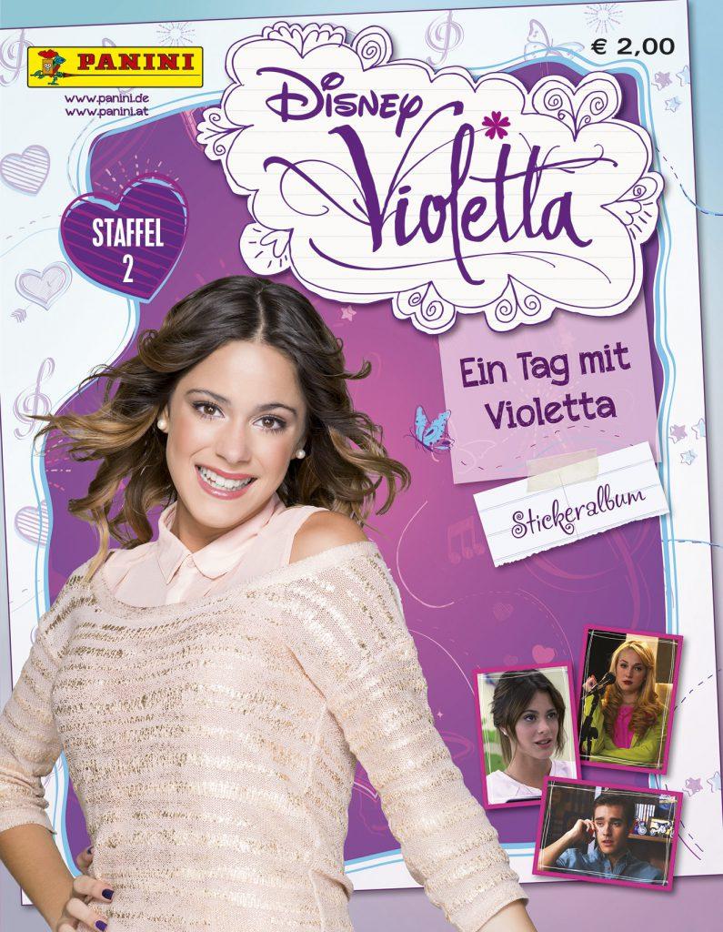 """JPG – 0.9 MB """"Disney Violetta - Ein Tag mit Violetta"""" - Cover Stickersammlung """"Disney Violetta - Ein Tag mit Violetta"""" ist die Stickersammlung zur zweiten Staffel der Telenovela. Verkaufsstart: 8. September in Deutschland und Österreich. Bildquelle: Panini"""