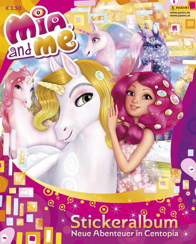 """Mia and me - Neue Abenteuer in Centopia"" - Albumcover Die Stickerkollektion ""Mia and me - Neue Abenteuer in Centopia"" kommt am 20. Oktober in den Handel.  Bildquelle: Panini"