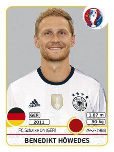 """Benedikt Höwedes ist einer von sechs """"Panini-Nachrückern"""" des DFB-Teams. Bildquelle: Panini"""