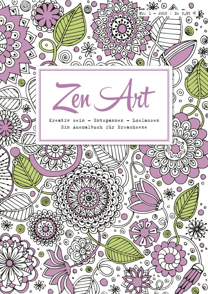 """Zen Art - Cover Panini setzt auf den Trend Coloring und hat mit """"Zen Art"""" ein zweimonatliches Ausmalbuch für Erwachsene entwickelt. Damit erweitert der Verlag sein Spektrum an Frauenmedien. Verkaufsstart: 17. Juli. Bildquelle: Panini"""