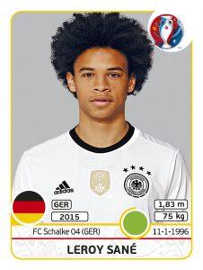 JPG – 0.3 MB Leroy Sané, einer von 84 Spielern des Updatesets zur Euro 2016. Bildquelle: Panini