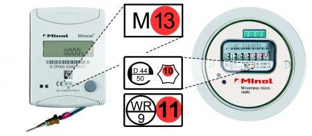Infografik Eichfristen:  Ob ein Gerät noch geeicht ist, lässt sich einfach kontrollieren. Es gibt verschieden Eichkennzeichnungen, auf denen jeweils eine Jahreszahl vermerkt ist. Sie gibt an wann das Gerät zuletzt geeicht wurde. (Grafik: Minol)