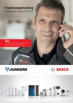 Junkers Bosch Pressebild Der neue Ergänzungskatalog von Junkers Bosch  führt auf mehr als 150 Seiten alle Produktneuheiten  und Änderungen auf, die nicht im aktuellen Hauptkatalog  aufgeführt sind. (Quelle: Junkers Bosch)