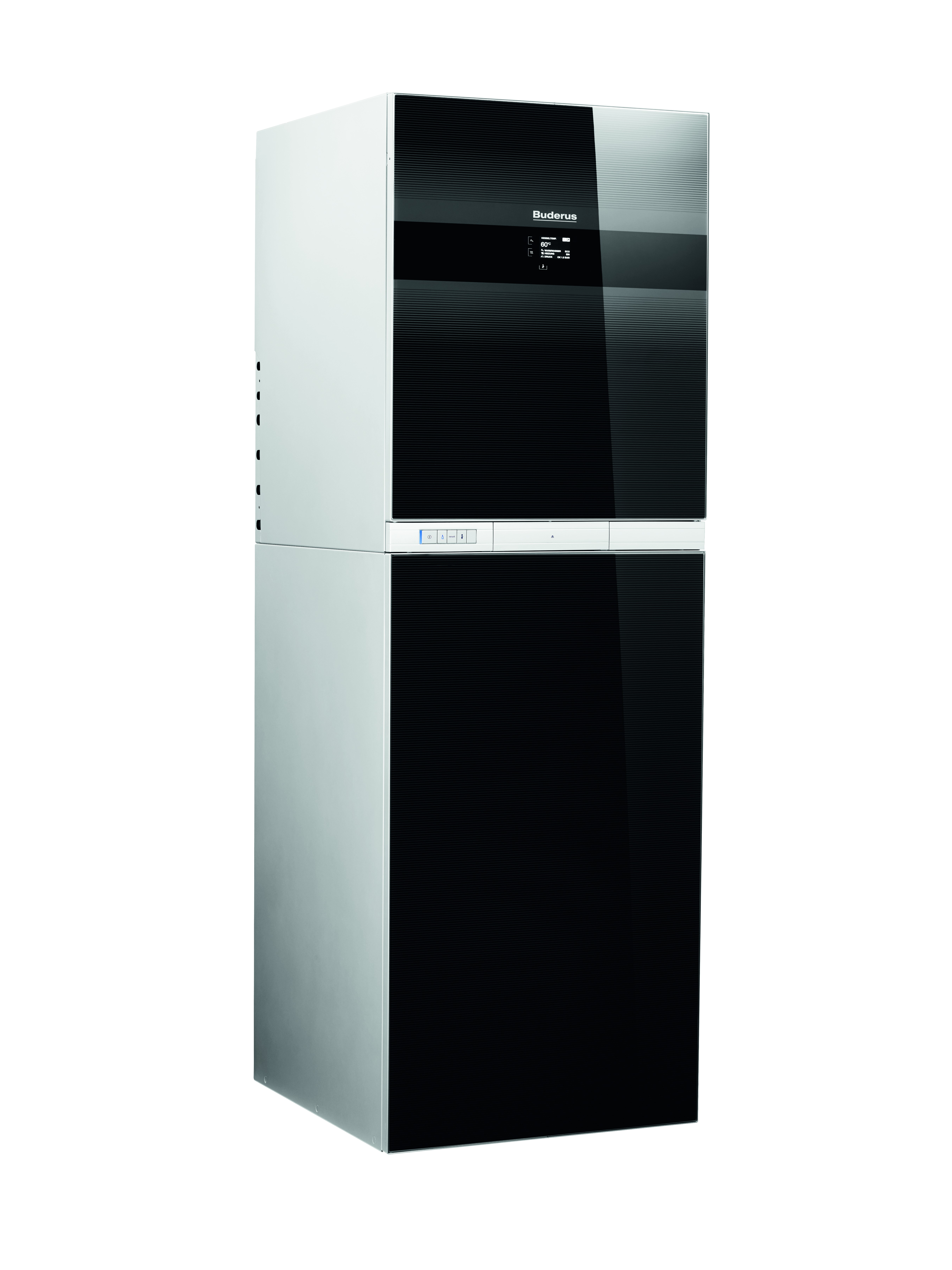 Die Buderus Gas-Brennwert-Kompaktheizzentrale Logamax plus GB192iT lässt sich komfortabel in Gebäude-Automationssysteme integrieren. Quelle: Buderus