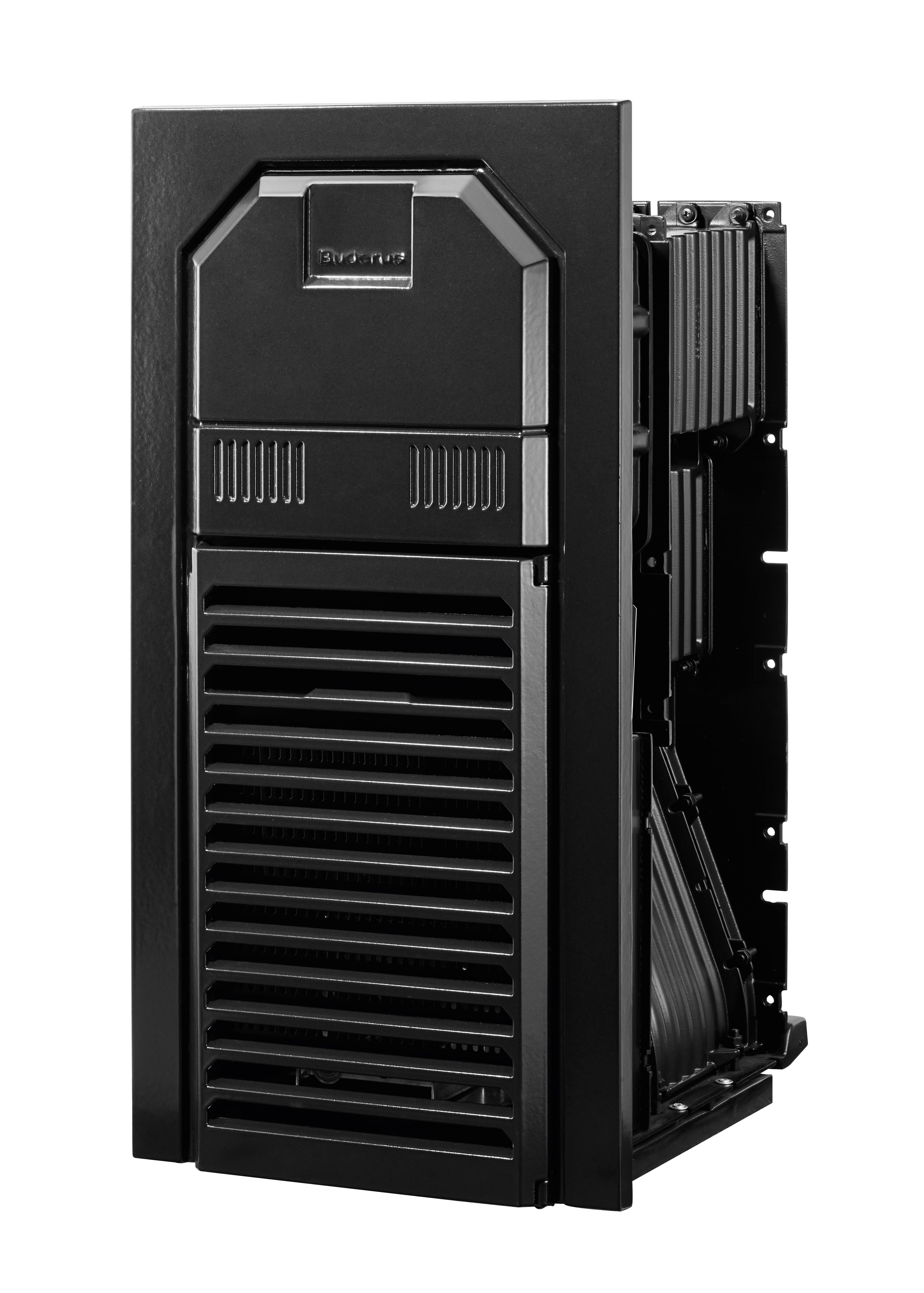 Der elektrische Buderus Gasheizeinsatz H214V mit einer Leistung von 9 kW ist mit einem zweistufigen Gasbrenner ausgestattet, der vollautomatisch funktioniert.  Quelle: Buderus