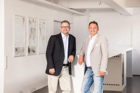 Markus Engel (l.) und Hubert Heinz, die beiden Geschäftsführenden Gesell-schafter von Communication Consultants.