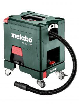 Der neue Akku-Sauger AS 18 L PC von Metabo ist ein rundum aufgeräumtes System: Durch seine kompakte Bauweise, den Tragegriff und dem optionalen Rollbrett wird das Saubermachen mobil. Foto: Metabo