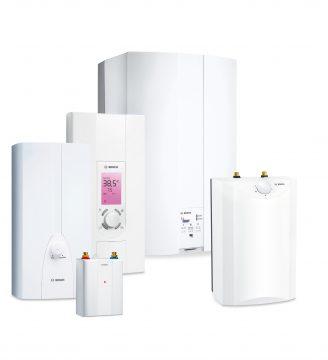 Junkers Bosch hat die Übernahme des Geschäfts mit Elektro-Warmwasserbereitern von der BSH Hausgeräte GmbH abgeschlossen und damit sein Portfolio an elektrischen Warmwasserbereitern deutlich erweitert. (Quelle: Junkers Bosch)