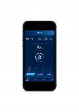 Bequem und einfach per App ein- und ausschalten, regeln und überwachen. Die EasyVent-App steuert die Vent 5000 C-Familie und sorgt so für frische Luft im Haus. (Quelle: Junkers Bosch)