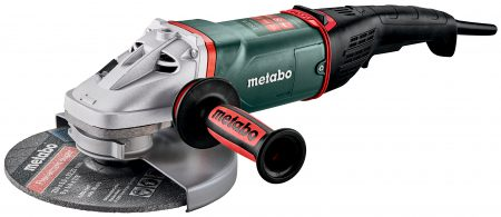 Mit den neuen großen Metabo Winkelschleifern WEPBA 24-230, 24-180 und 26-230 MVT Quick mit Totmannschalter und Sicherheits-Bremse bietet Metabo höchsten Anwenderschutz in allen Leistungsklassen.