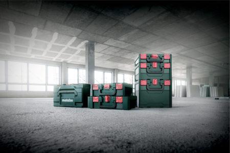 Die Koffer des neuen metaBOX Systems gibt es in verschiedenen Größen.