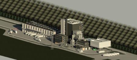WOLFF & MÜLLER baut im Auftrag der E.ON ein Biomasseheizkraftwerk auf dem Gelände der UPM-Papierfabrik Hürth.
