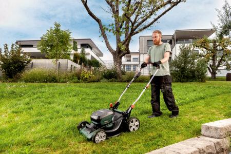 Der Akku-Rasenmäher ist eines von sieben neuen Gartengeräten, die Metabo auf den Markt bringt