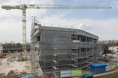 Rohbauarbeiten an der neuen Gustav Epple Firmenzentrale