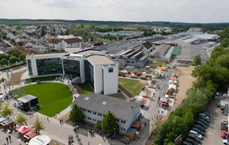 Luftbild der Firmenzentrale in Oberderdingen. Bild: E.G.O.