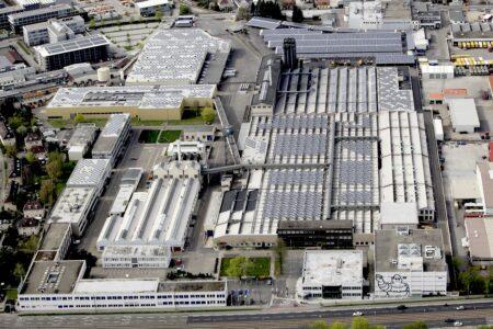 Das Michelin Werk Karlsruhe aus der Luft