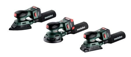 Die neuen 12-Volt-Akku-Schleifer von Metabo sind besonders flach, leicht und kompakt gebaut