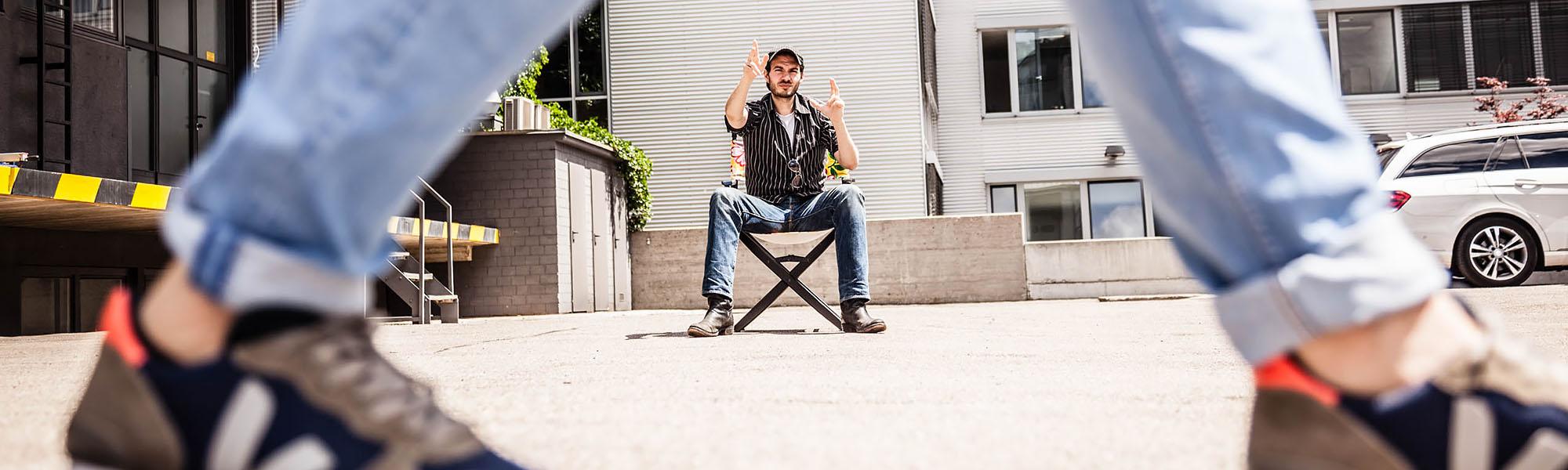 Film ab!  Unterstützung aus Island für die Film-Unit