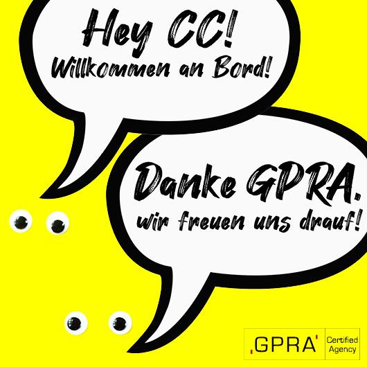 CC ist Mitglied in der Gesellschaft der führenden PR- und Kommunikationsagenturen GPRA